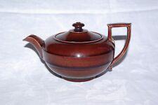 Antique Impressed  Rockingham Brown Glazed Teapot Tea Pot c1830