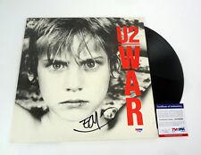 The Edge U2 Signed Autograph War Vinyl Record Album PSA/DNA COA