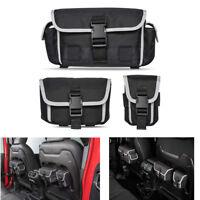 S/M/L Back Seat Organizer Storage Molle Bag For 2018 19 Jeep Wrangler JL Rubicon