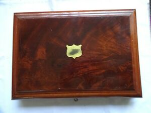 ANTIQUE  WOODEN CUTLERY CASE/CANTEEN FOR 6 PLACE SETTINGS - EMPTY 7 x 41 x 29 cm