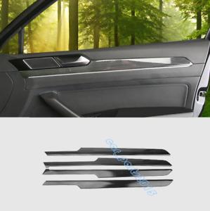 Carbon Fiber Inner Door Armrest Decor Cover Trim For VW Passat Variant B8 17-19