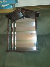 Birdhouse glass shelf 26 x 18 x 7 cabinet display case