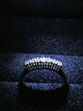 Anello veretta 7 diamanti naturali 0,35 ct oro bianco 18 kt  - Gold and Diamonds