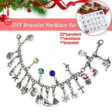 Advent Calendar 22 Pendant Christmas Bracelet Necklace DIY Set Fashion  New