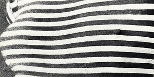 1966 WINGATE PAINE Vintage Female Nude Striped Breast Abstract Photo Art 11x14