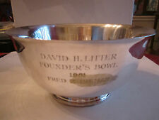 "Tiffany & Co Silverplate Bowl #43618 - 8 1/2"" X 8 1/2"" X 4 1/2"" - Bn-9"