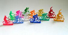 Vintage Tour de France Cycliste Cyclist Figure Set of 12 loose 1970's