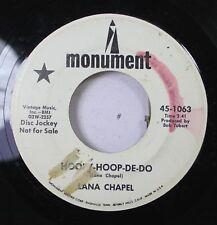 Hear! Pop Promo 45 Lana Chapel - Hoopy-Hoop-De-Do / The Wind Song On Monument (P