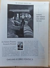 1931 magazine ad for Pontiac Oakland - making new friends keeping old, earnest