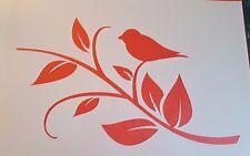 1472 Schablonen Vogel Zweig Mylarfolie Vintage Stanzschablonen Stencil Tattoo