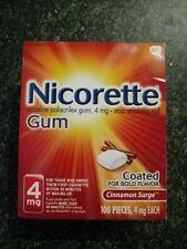 Nicorette Cinnamon Surge 4mg Nicotine Gum 100 each Exp:5/22