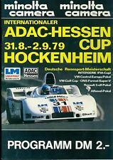 Program 1979 Hessen Cup Hockenheim DRM DRT Interserie Can Am Porsche 908 VW Golf