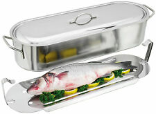 Judge Speciality Stainless Steel Fish Poacher 50cm - H002