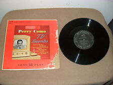 PERRY COMO 33 1/3 TV FAVORITES RCA VICTOR LPM 3013 SONGS FROM CHESTERFIELD SHOW