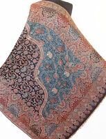 Large, Superior, Jamavar, Wool Shawl. Ultra-Practical Colors. Detailed Paisley