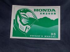 Honda XR200R OEM Owners Manual XR 200 Rare Genuine 1995 + Many more