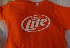 Miller Lite Orange T Shirt...Men's Medium...NEW