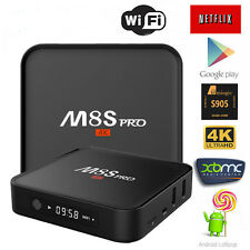 4K WIFI M8S S905 Smart TV Box Android 6.0 Media Player Quad Core2+8G+Keyboard