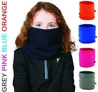 Youth Kids Children's Boys Girls Winter Fleece NECK WARMER Tube Scarf Snood Caps