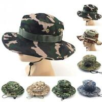 Hiking Boonie Hat Bucket Sport Cap Fishing Hunting Outdoor Camouflage Strap Camp