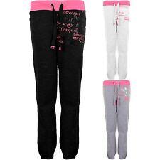 Ladies Fuchsia New York Stretch Shiny Women's Casual Jogging Bottom Trousers