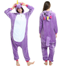 Hot Adult/Child Soft Flannel Unicorn Pajamas Cosplay Animal Sleepwear Clothes