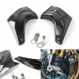 Glossy Black Pair Carbon Fiber Brake Caliper Cooling Air Ducts Radiator Cooler