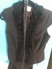 Adrienne Papell Crepe Dressy Belted Pant Suit. Size 6