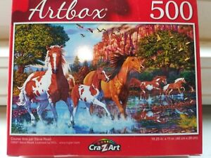 New 500 Piece Jigsaw Puzzle (Running Free) Animals~Horses~Nature~Landscapes