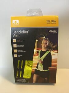 NATHAN Bandolier Reflective Safety Yellow Vest, One Size / NEW