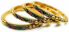 Peacock Designer Girls Wedding Party Occasion Wear Women Gold Plated Bangles Set