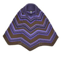 Womens Dolce & Gabbana Lurex Knit Vintage Skirt Striped Zig Zag Purple Size XS
