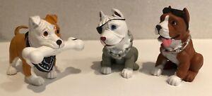 Hey Homies, Loose 3 Hood Pups, Dog Figures all different Pit Bulls etc.