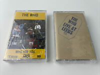 The Who - Who Are You - Live At Leeds - Lot of (Two) Cassette Tapes Sealed