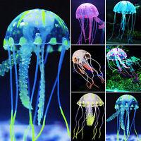 Glowing Aquarium Landscape Fish Tank Water Grass Jellyfish Coral Ornament Decor*