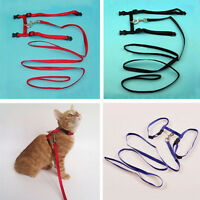 New Design Small Pet Harness straps Cat Puppy Kitten Rabbit Adjustable Collar