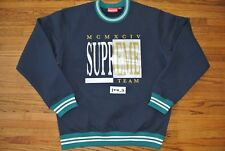 NEW SUPREME TEAM CREWNECK LARGE NAVY FW17 sweater box logo cdg playboy