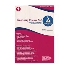 3 Pack Dynarex Cleansing Enema Set Disposable Colon Cleansing Kit #4711