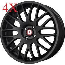 Drag Wheels Dr-61 17x7 4/98 et30 58.25mm Flat Black Rims For Peugeot Bipper