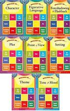 8 Book Scholastic Spotlight on Literary Elements Set PLOT THEME SETTING +5 MORE