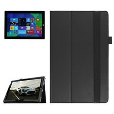 BOOK COVER SMART PER MICROSOFT SURFACE 3 NERO CUSTODIA IN PELLE CASE X DISPLAY