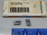 SECO XCMX-13T308TR-79 CARBIDE MILLING INSERTS (7 PCS) GRADE HX