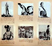 1939 Palestine ISRAEL Album 216 CIGARETTE CARDS Hebrew JUDAICA Jewish PHOTOS