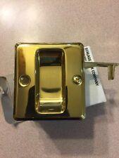 Pocket Door Pull,No P509-666 605,  Schlage Lock Co Bright Brass