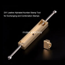 DIY Leather Alphabet Number Stamp Tool for Exchanging and brass stamp slot MF
