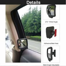 Auto Blind Spot Mirror 270° Adjustable Convex Wide Angle Car Rear Seat Rearview