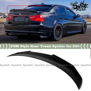 FITS 06-2011 BMW E90 3 SERIES M3 SEDAN GLOSSY BLACK PSM STYLE TRUNK SPOILER WING