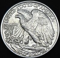 #3 1943 P ~ Walking Liberty Silver Half Dollar US Coin In UNC. Great Condition .