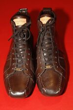 Louis Vuitton Men's Dark Brown Leather Driving Lace-Up Shoes, US 9 1/2,  New