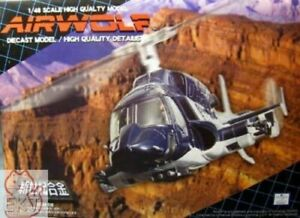 AOSHIMA Air Wolf SGM-08 1/48 scale Die-cast Model helicopter SHINSEIKIGOKIN